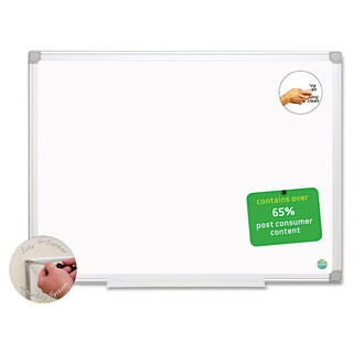 MasterVision White/Silver Earth Easy-Clean Dry Erase Board