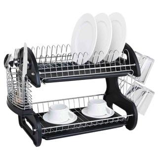 Sweet Home Collection 2-tier Black Dish Drainer  sc 1 st  Overstock.com & Kitchen Storage | Shop our Best Kitchen u0026 Dining Deals Online at ...