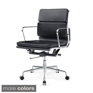 Soft Conference Mid-back Black Office Chair