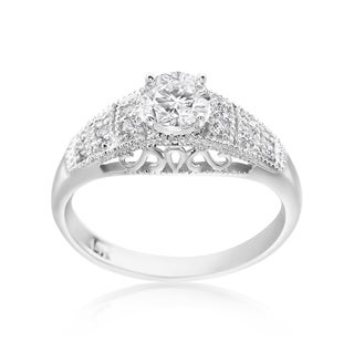SummerRose 14k White Gold 3/4ct TDW Diamond Fashion Ring