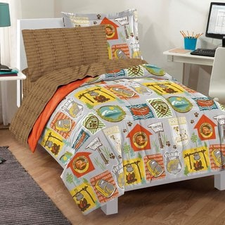 Campout Twin-size 5-piece Bed in a Bag with Sheet Set