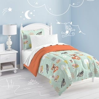 Dream Factory Woodland Friends Twin-size Bed in a Bag with Sheet Set