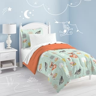 Dream Factory Woodland Friends Twin-size 5-piece Bed in a Bag with Sheet Set|https://ak1.ostkcdn.com/images/products/10151527/P17280788.jpg?impolicy=medium