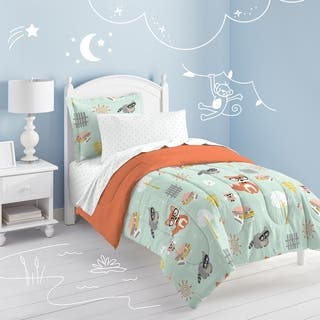 Dream Factory Woodland Friends Twin Bed in a Bag with Sheet Set