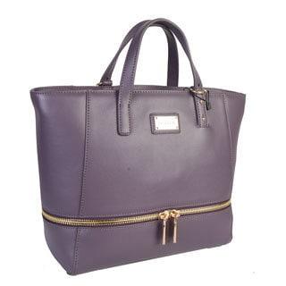 Mllecoco Genuine Leather Zipper Tote Handbag