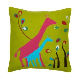 Felt Giraffe Decorative Pillow
