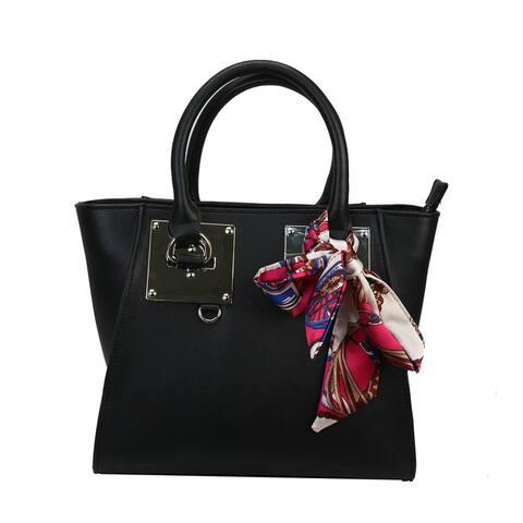 Mllecoco Genuine Leather Scarf Wrap Handbag - Large