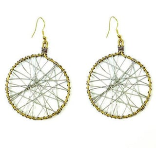 Women's Mesh Recycled Wire Earrings (India)