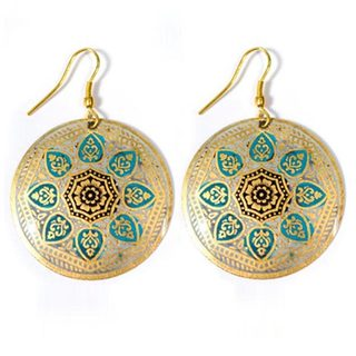 Matsya Floral Medallion Earrings (India)