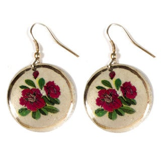 Indian Rose Medallion Earrings (India)