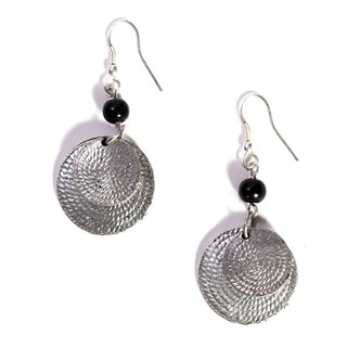 Handmade Black Market Dangle Earrings (India)