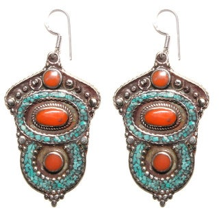Elegant Tribal Style Earrings (Nepal)