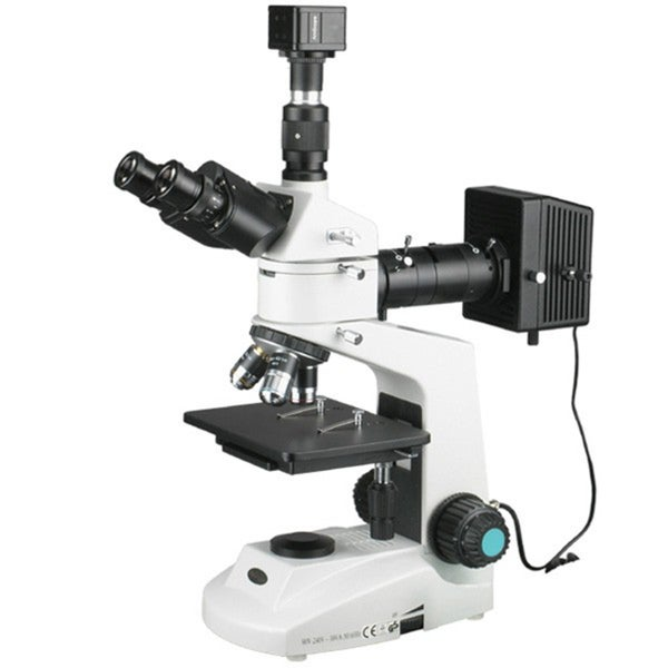 40x-2000x Polarizing Metallurgical Microscope with 2 Lights and 10MP Camera
