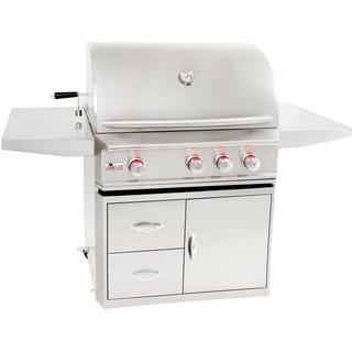 Blaze Professional 3-Burner Natural Gas Grill With Rear Infrared Burner On Cart