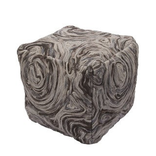 National Geographic Abstract Pattern Moonstruck/Bungee cord Wool Pouf