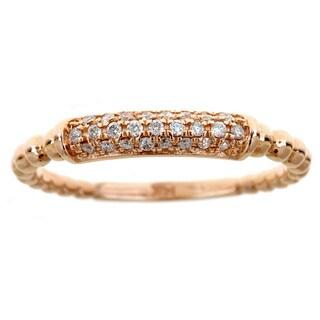 14k Rose Gold 1/6ct TDW Diamond Ring