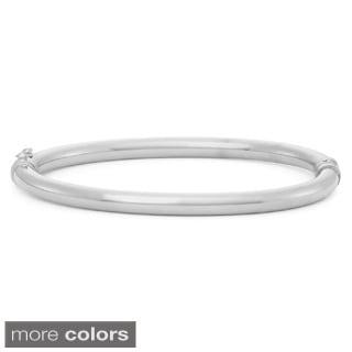 Gioelli Sterling Silver High Polish Round Tube Bangle Bracelet