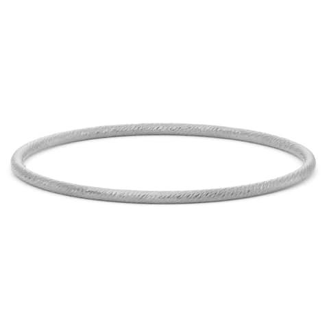 Gioelli Sterling Silver Textured Bangle Bracelet