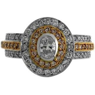 Azaro 18k Two-tone Gold 1ct TDW Diamond Fashion Ring (G-H, SI1-SI2)