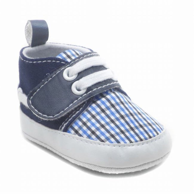 Blue Baby Check Shoes (6 - 9 Months), Girl's