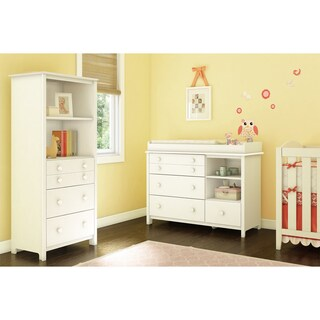 Little Smileys Changing Table with Removable Changing Station and Shelving Unit with Drawers