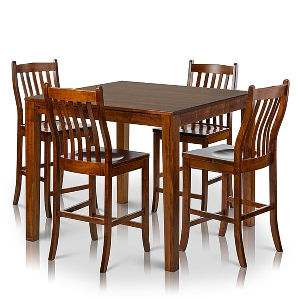 Shop Somette 5-piece Solid Maple Wood Dining Set With