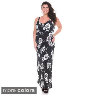 Stanzino Women's Plus Size Sweetheart Floral Maxi Dress