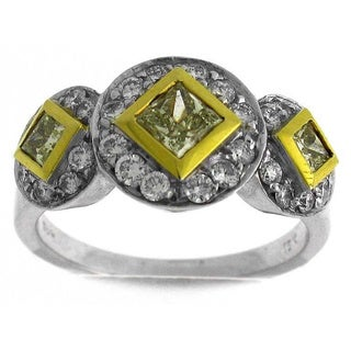Azaro 18k Two-tone Gold 1 1/10ct TDW Diamond Fashion Ring (G-H, SI1-SI2)