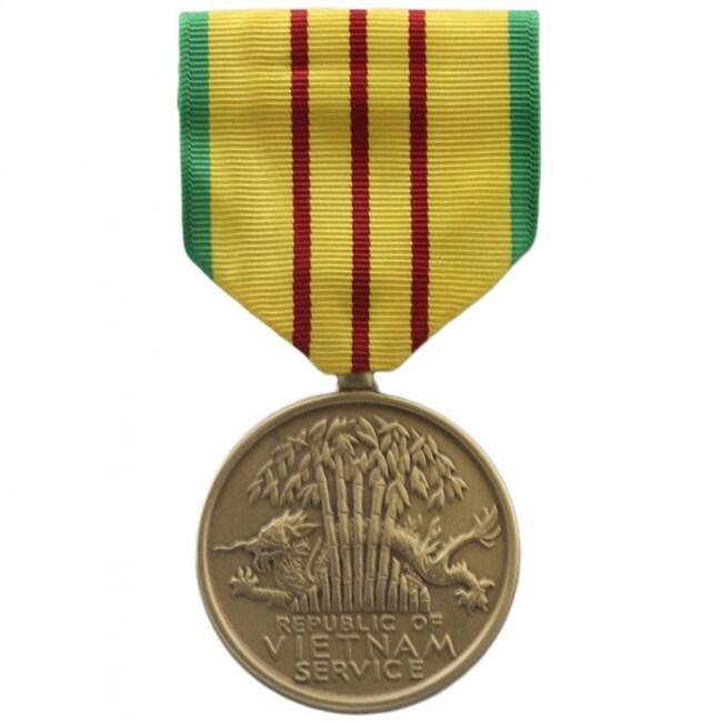 Rush Industries Vietnam Service Medal (Yellow) (Metal)