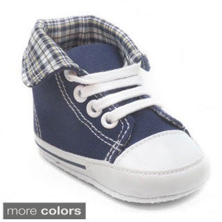 Blue Baby 'P-Gate' Lace-up Boat Shoes (Option: Blue)