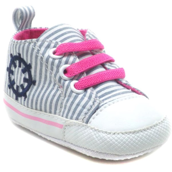 Blue Baby Striped 'P-Boat' Shoes
