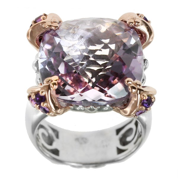 Shop Dallas Prince Sterling Silver Pink Amethyst Ring On