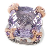 Dallas Prince Sterling Silver Pink Amethyst Ring