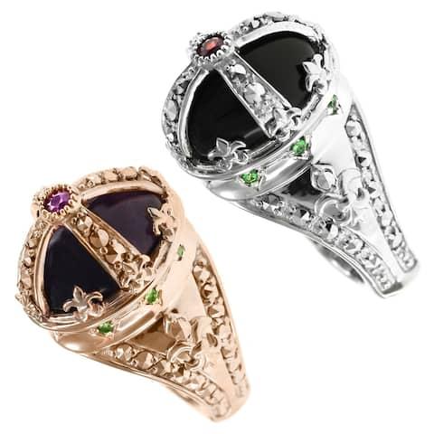 Dallas Prince Gold over Silver Multi Stone Ring