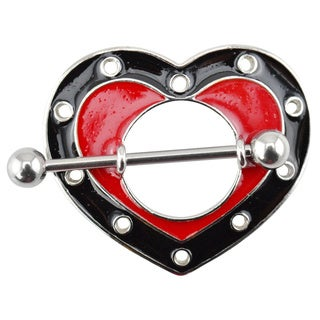 Supreme Jewelry Red and Black Heart Nipple Shield