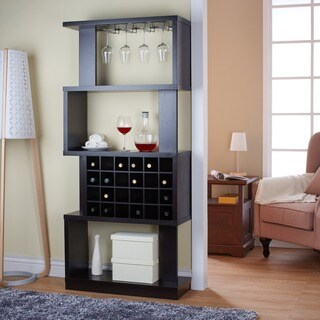 Clay Alder Home Sachs Tall Cappuccino 4-tier Wine Stand/ Room Divider