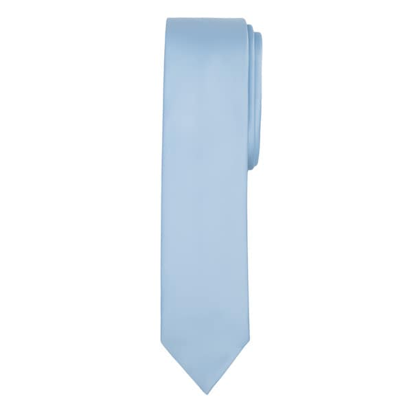 Jacob Alexander Men's Solid Color Skinny Tie