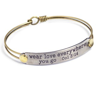 Sweet Romance Inspirational Quote Motivational Message Bangle Bracelet (More options available)