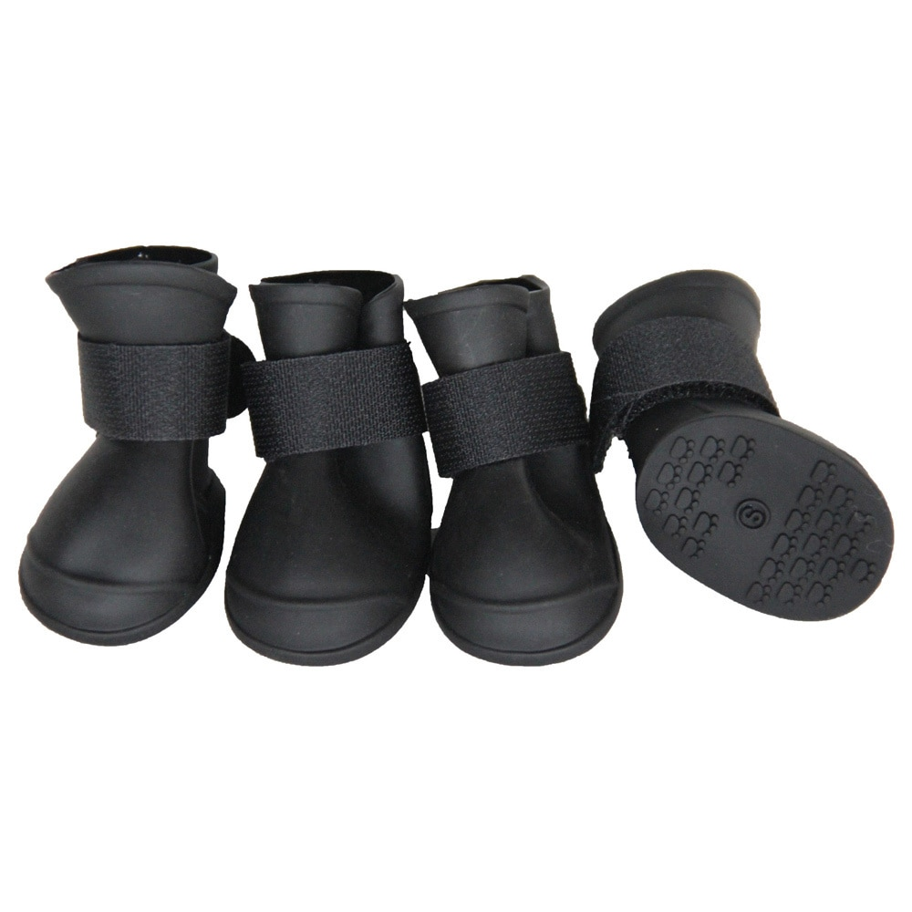 "Petlife All-Terrain Rubberized Dog Shoes (8"" - 10"" - Blac..."