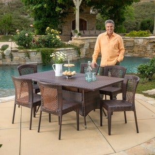 Rafael Outdoor 7-piece Wicker Dining Set by Christopher Knight Home