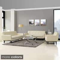 Absorb 3-piece Leather Living Room Set - 3piece