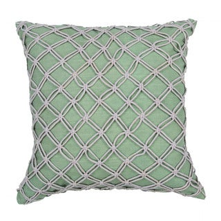 Textural Pattern Lily pad/Creme brulee Cotton 22-inch Throw Pillow
