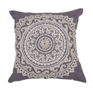 Floral Pattern Eiffel tower/Creme brulee Cotton 22-inch Throw Pillow