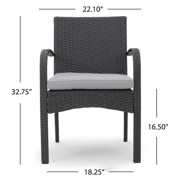 Patterson Outdoor 5 Piece Wicker Dining Set With Cushions By Christopher  Knight Home   Free Shipping Today   Overstock.com   17281601