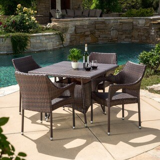 Arden Outdoor 5-piece Wicker Dining Set by Christopher Knight Home