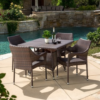 Christopher Knight Home Arden Outdoor 5-piece Wicker Dining Set
