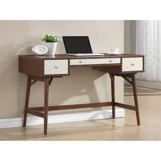 Dunkirk Dark Brown And Cream Modern Desk