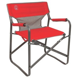 Coleman Red Steel Deck Chair