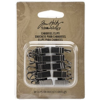 Tim Holtz IdeaOlogy Carousel Clips 20/PkgFor Use With TH93214