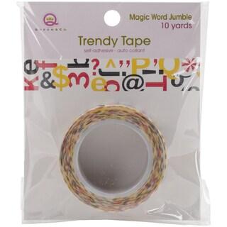 Magic Trendy Tape 15mm X 10ydsLetter Jumble